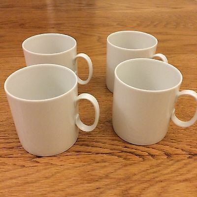 Four White Thomas Germany Large Cups Set