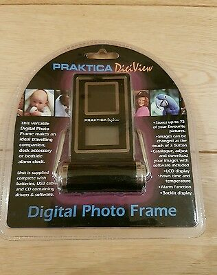 Praktica DigiView Digital Photo Frame Digital Alarm Clock
