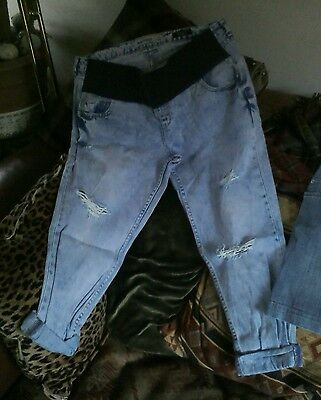Maternity Rip Jeans And Mini Skirt Size 16