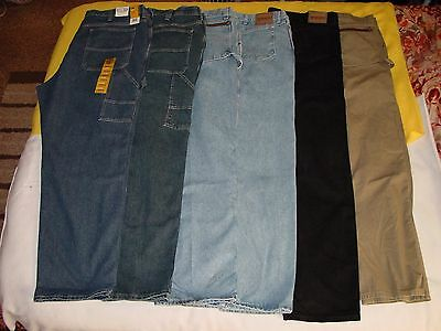 6 46x34 Men's BIG & TALL RELAXED (4) Wranglers & (2) LEE's Carpenters Jeans