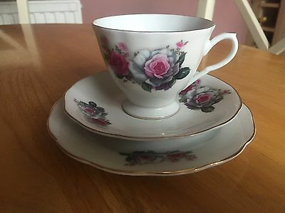 New Shabby Chic Tea For One China Floral Cup And Saucers