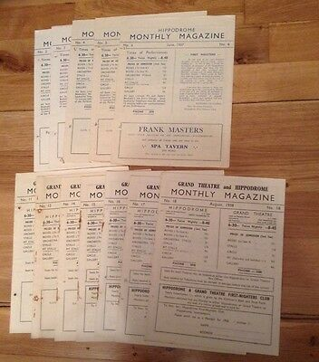 SOUTHAMPTON HIPPODROME monthly magazines from 1937/8