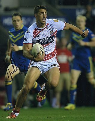 """Anthony Gelling Signed Wigan Warriors 10"""" x 8"""" Rugby League Photo."""