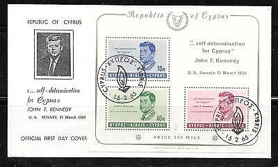 Cyprus Kennedy FDC from 1965