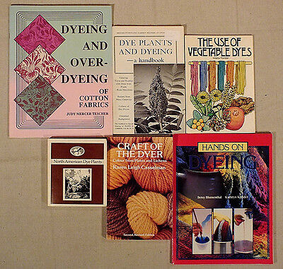 Yarn Spinning Dye Plants, Vegetable Dyes, Overdyeing, Natural Dyes Book lot