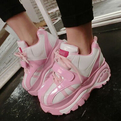 Women Lace Up Platform Heel Casual Running Sports New Fashion Sneakers Shoes Hot