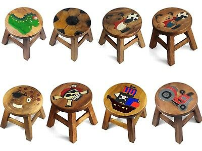 Kids Childrens Childs Wooden Stool Chair