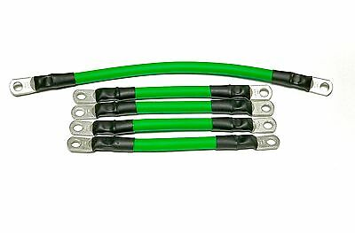 2 Awg HD Golf Cart Battery Cable 5 pc Set GREEN  E-Z-GO 94/UP TXT 36V  U.S.A