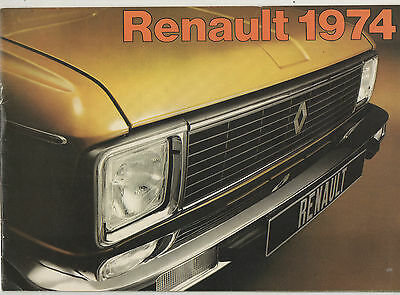 Renault 1974 Car Range - Sales Brochure.