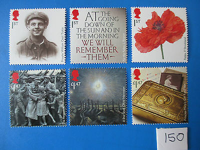 2014 GB  Commemoratives: The Great War 1914 stamp set - MNH (SG 3626-31)  #150