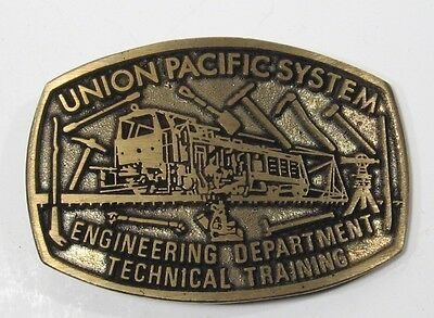 UNION PACIFIC RAILROAD SYSTEM Engineering Technical Training Brass DynaBuckle
