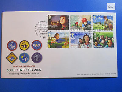 2007 GB Commemorative FDC: Scout Centenary - Brownsea Island FDI   #C66