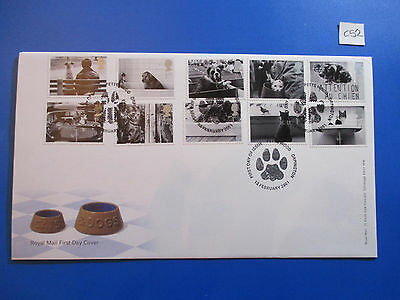 2001 GB Commemorative FDC: Cats & Dogs  Petts Wood, Orpington  #C52
