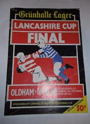 Oldham v Wigan 19th October 1986 Lancashire Cup Final @ Knowsley Road, St Helens