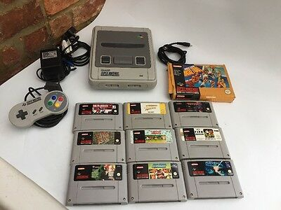 Super Nintendo Console with Official Controller and Game (SNES) Bundle
