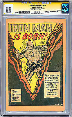 Tales Of Suspense #39 Cgc-Ss -Ng- Coverless *signed Stan Lee* 1St Iron Man 1963