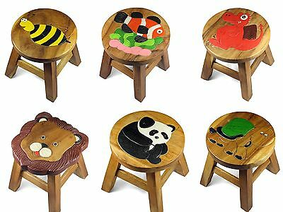 Kids Childrens Childs Wooden Stool Chair - BOYS & GIRLS