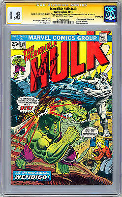 Incredible Hulk #180 Cgc-Ss 1.8 Signed Herb Trimpe *1St Ever Wolverine App* 1974