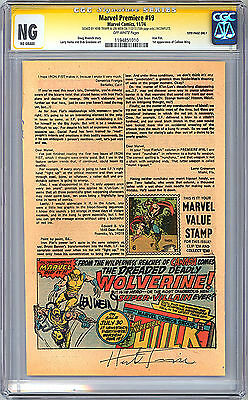 Incredible Hulk #181 Ad Page Cgc-Ss Ng 1St Ever App Wolverine Trimpe & Wein 1974