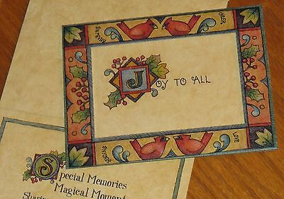JOY TO ALL Lisa Blowers Artwork Lang Picture Frame Xmas Photo Insert Cards 4ct