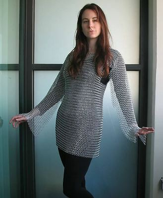 Ms Butted Chainmail Shirt Female Chain Mail Armor Haubergeon-Medieval Armour^