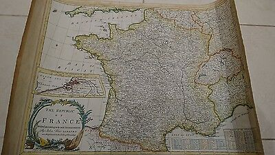 antique map of the Republic of France by John Blair 1790