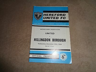 Hereford United v Hillingdon Borough 69/70