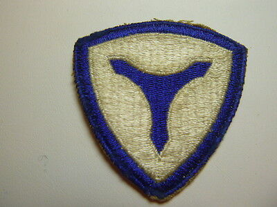 A      World War Two  U S Army  3rd Service Command  Cut Edge Snow  Back Patch
