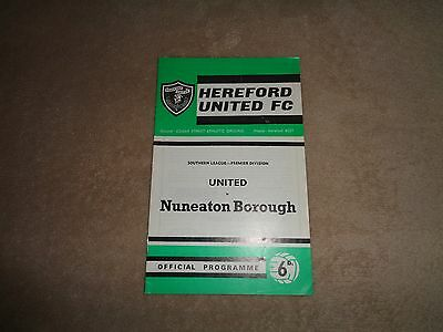 Hereford United v Nuneaton Borough 69/70