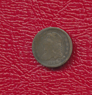 1836 Capped Bust Silver Half Dime **nice Circulated Type Coin** Free Shipping!