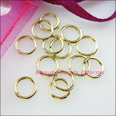 4mm 5mm 6mm 7mm 8mm Jump Rings Open Connectors 14K Gold Plated