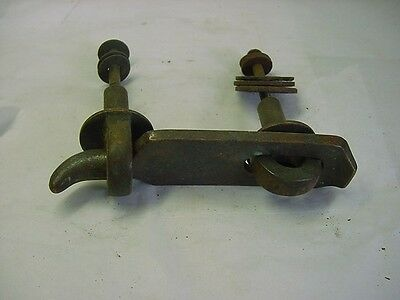 Antique Solid Bronze/brass Unusual Gate Latch Victorian