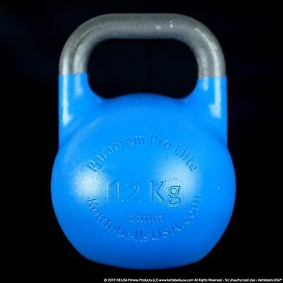 12 kg-26 lb Paradigm Pro ELITE 33mm Handle Competition Kettlebell *FREE SHIPPING