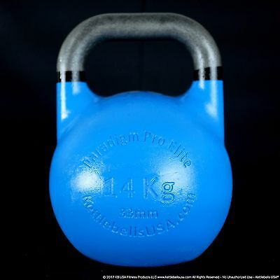 14 kg-31 lb Paradigm Pro ELITE 33mm Handle Competition Kettlebell *FREE SHIPPING
