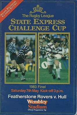 1983 Featherstone Rovers v Hull (Challenge Cup Final)