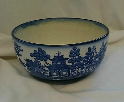 RARE Vintage ANTIQUE MINTONS 19th Century WILLOW PATTERN Blue & White BOWL