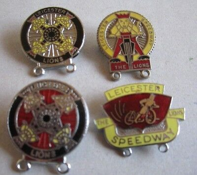 Leicester Speedway Badges x 4