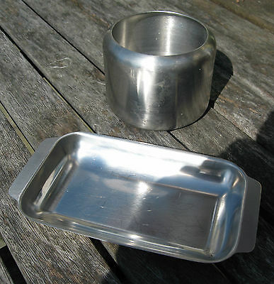Stainless Steel Sugar Bowl & Butter Dish.