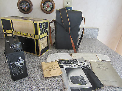 Cine Kodak Model M 16mm Movie Camera F3.5 Lens w Case Original Box Manuals +MORE