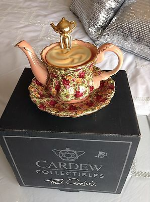 New Boxed Cardew Royal Doulton Old Country Roses Cup&saucer Teapot Mint Conditin