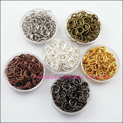 40Pcs Jump Rings Open Connector Gold Dull Silver Bronze Copper Black Plated 20mm