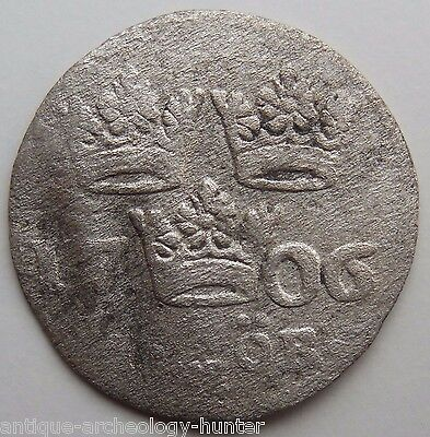 Sweden Hammered Silver Coin from Baltic Sea Shipwreck Rare!