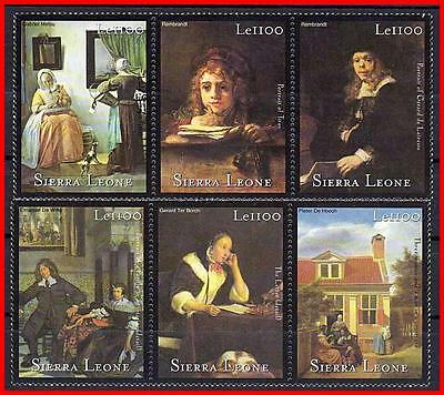 Sierra Leone  = Dutch Paintings  Mnh  Rembrandt, Borch, Etc. (K-J18)