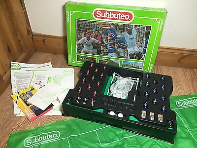 Subbuteo Table Football Complete Full Boxed Match Set Pitch Goals 60140 Red Blue