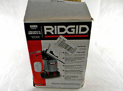 RIDGID 500RS 1/2HP Professional Cast Iron Water Submersible Sump Pump