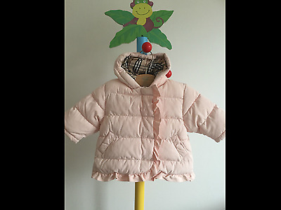 Burberry Baby Girls Designer Winter Feather Down Padded Hooded Coat 6 months