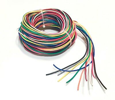 16 GAUGE Wire Blue W/white Stripe 1000 Ft Primary Awg Stranded ...