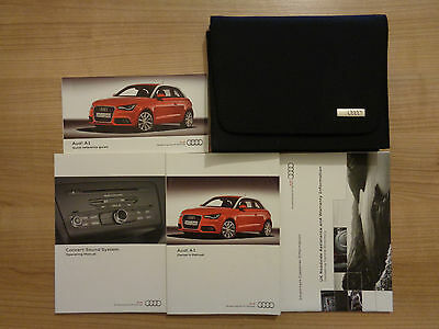 Audi A1 Owners Handbook/Manual and Wallet 10-16