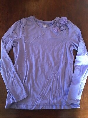 Children's Place Long-sleeved T-shirt Girls Size 10/12 Purple