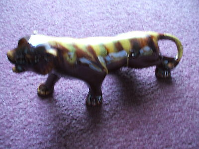 """Rare Canadian  Blue Mountain Art Pottery Panther Harvest Gold 28 Cm 10 """" Vgc"""